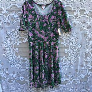 NWT LuLaRoe Nicole style a line dress short sleeve